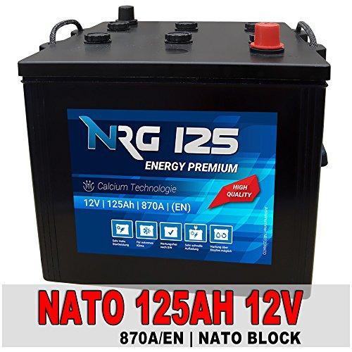 NATO Block Batterie 125Ah 12V LKW Starterbatterie Unimog Panzer Bundeswehr