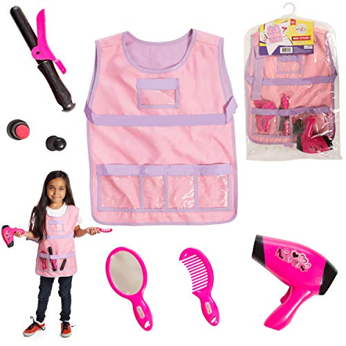 DRESS 2 PLAY Pretend Costume, with Accessories (Hair Stylist) Pink