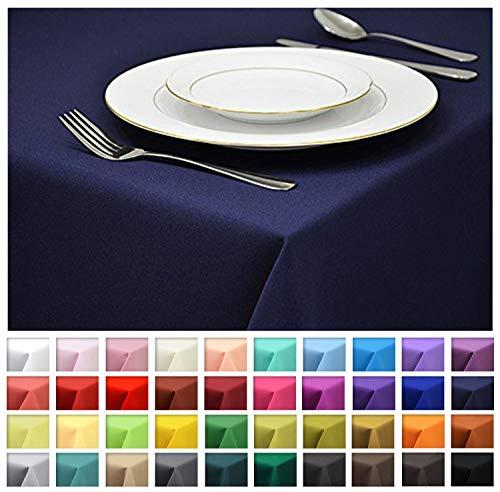 Rollmayer Tischdecke Tischtuch Tischläufer Tischwäsche Gastronomie Kollektion Vivid (Dunkel Blau 16, 80x80cm) Uni einfarbig pflegeleicht waschbar 40 Farben