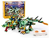 NextX Remote & APP Control Dragon Building Kit, Driving Dragon Featuring Moving Dinosaur Set Kids Toys for Boys and Girls Gifts STEM Projects for Kids Ages 8 -12, New 2021(515 Pieces)