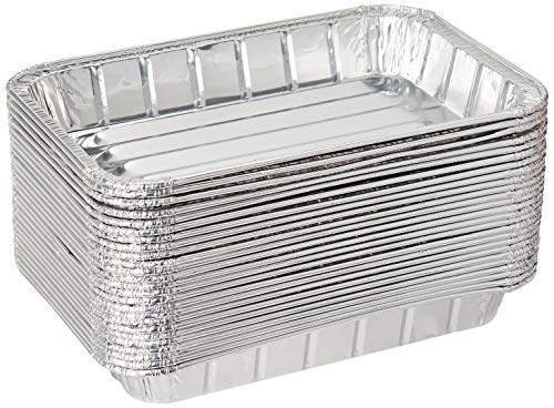 """Pack of 25 Disposable Aluminum Foil Toaster Oven Pans - Mini Broiler Pans 