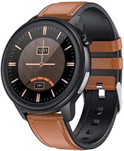 YSSJT Smart Watch Ip68 Impermeabile Intelligente Orologio con Ossigeno nel Sangue Temperatura Corpo Continuo Frequenza Cardiaca Monitoraggio Respiratorio ECG+PPG ECG Fitness Tracker per Uomo-A