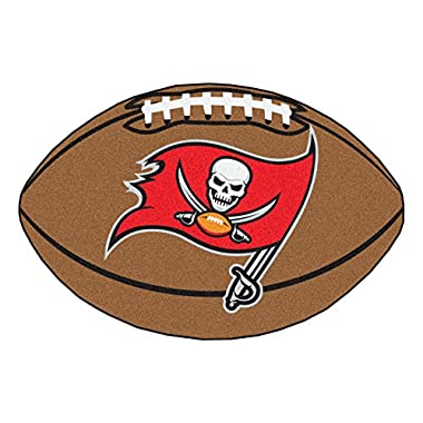 FANMATS NFL Tampa Bay Buccaneers Nylon Face Football Rug