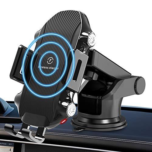 2020最新版車載Qi ワイヤレス充電器 車載 ホルダ 車載ホルダー 自動開閉 対応 10W/7.5W/5W急速ワイヤレス充...