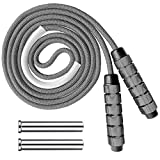 Weighted Jump Rope Workout Weight Heavy Skipping Rope 1Lb Extra Thick Adjustable Speed Non-Slip...