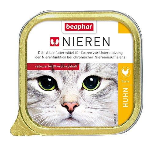 beaphar Nierendiät + Huhn für Katzen | Katzennahrung bei Niereninsuffizienz | Nierendiätfutter für Katzen | Nassfutter-Sorte: Huhn | 100 g