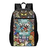 Mochila Mochila de Viaje Cup-Head Backpack Laptop Backpack School Bag Travel Backpack 17 Inch