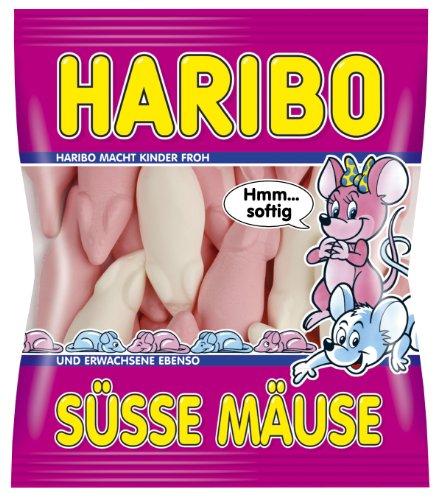 Haribo Süsse Mäuse, 5er Pack (5 x 200 g Beutel)