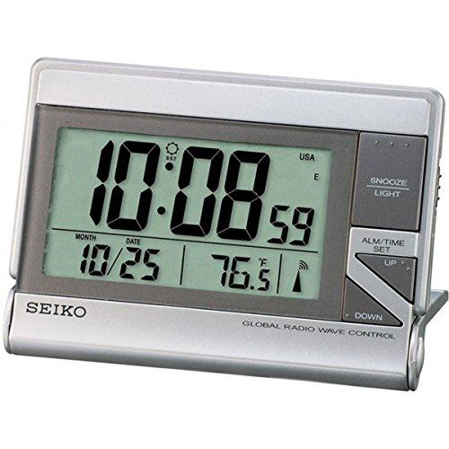 Seiko Wecker LCD silber Kunststoff QHR024S