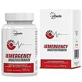 Vihado Emergency Multivitamin & Multimineral Kapseln hochdosiert A-Z vegan mit Vitaminen, Mineralien, Spurenelementen, 180 Kapseln