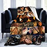 Gmhnssdszd Movies Titanic Collage Soft Fannel Fleece Jack Rose Sweet Love Throw Lightweight Warm Plush Blankets Bed Couch Office Home Accessories Funny Gifts for Women Men Kids Pets 50x40inch,Black