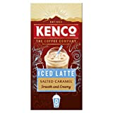 Kenco Iced Latte Salted Caramel Instant Coffee (5 Boxes of 8 Sachets, Total 40 Servings)