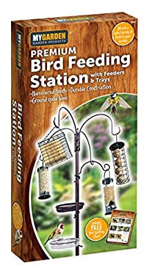 Premium bird Feeding Station With Feeds and Trays by Uk