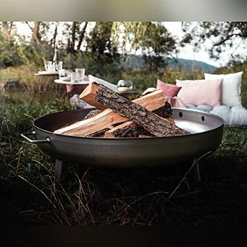 Czaja Stanzteile Feuerschale Bonn Ø80cm - mit Wasserablaufbohrung - Feuerstelle für Draußen, Feuerkorb für Terrasse und Garten…