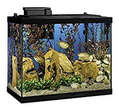 Tetra Glass Aquariums are made in the USA and are built to last with scratch resistant glass The Tetra Aquarium comes loaded with an LED hood, that provides a natural daytime effect and a Whisper Filter that is whisper quiet while providing powerful,...