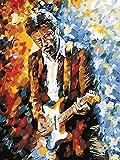 Hombres Personas Retratos Guitarra Eric Clapton Giraffe Pintura por Números para Adultos y niños Pintar Diy al óleo de Bricolaje Pinceles Principiantes Hogar Lienzo Decoraciones Colores Acrílica