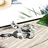 H&D Kristall Klar Schildkröte Figur Collection Briefbeschwerer Tisch Mittelpunkt Ornament - 2