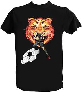 UZ Design Camiseta Oliver y Benji Campeones Hombre Niño Captain Tsubasa Mark Lenders