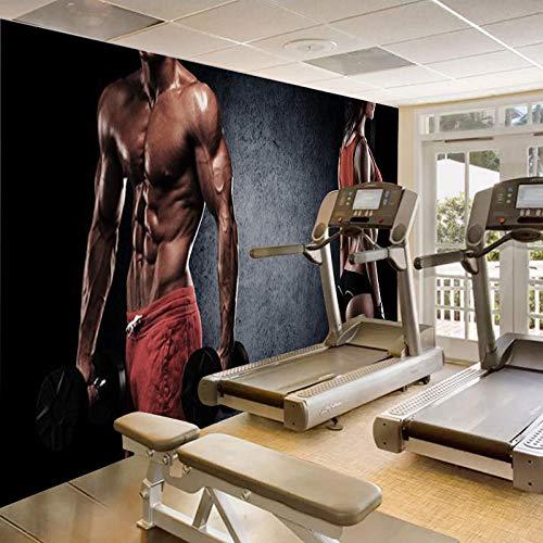 Foto Tapete 3D Große Männer Und Frauen Sport Dekorative Wandbilder Gym Yoga Boxhalle Hintergrund Tapeten @ 250 * 175Cm