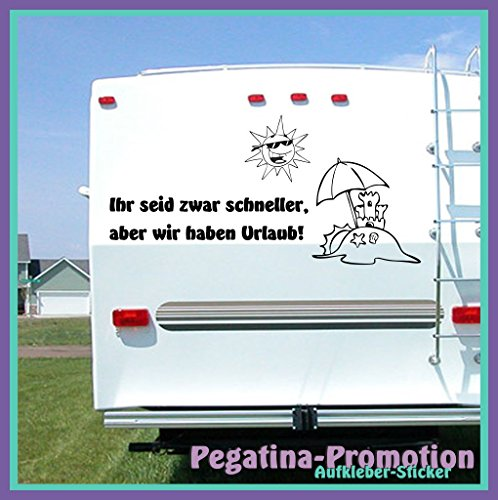 """Hochwertige Wohnwagen / Wohnmobil Aufkleber """""""