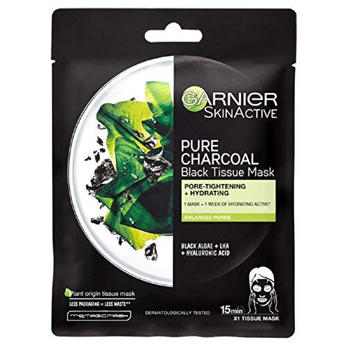 Garnier oogmasker, hyaluronzuur en kokosnootwater kolen en algen.