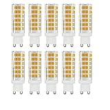 BANGSHUO 10 bombillas LED G9, 9 W (equivalente a 85 W), no regulable, blanco cálido 3000 K, 850 lúmenes, G9 AC220-240 V, 360 grados