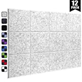 DEKIRU New 12 Pack Acoustic Foam Panels, 12 X 12 X 0.4 Inches Soundproofing Insulation Absorption Panel High Density Bevled Edge Sound Panels, Acoustic Treatment Used in Home&Offices Wall Decoration
