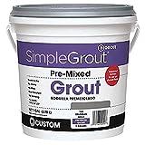 Custom PMG3811 1-Gallon Simple Premium Grout, Bright White
