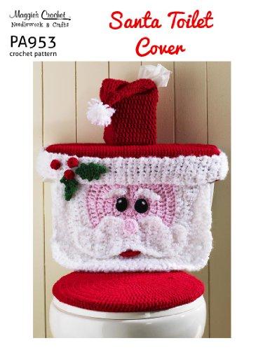 Crochet Pattern Santa Toilet Cover PA953-R
