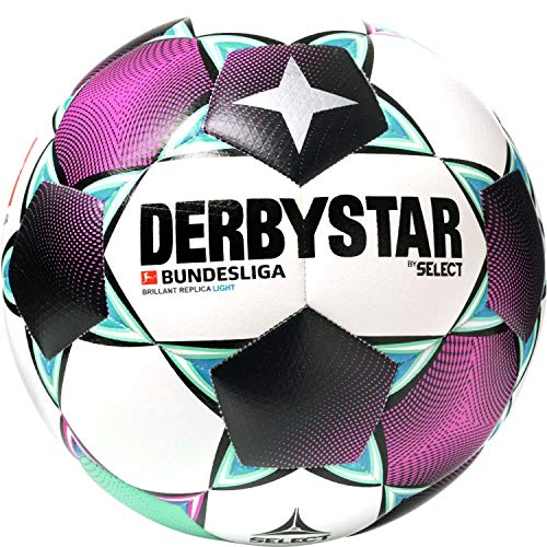 Derbystar Bundesliga Brillant Replica Light Fußball weiß/grün, 5