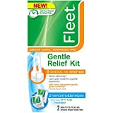 Fleet Laxative Gentle Relief Kit, Includes 2 Mineral Enemas and 2 Hemorrhoid Wipes