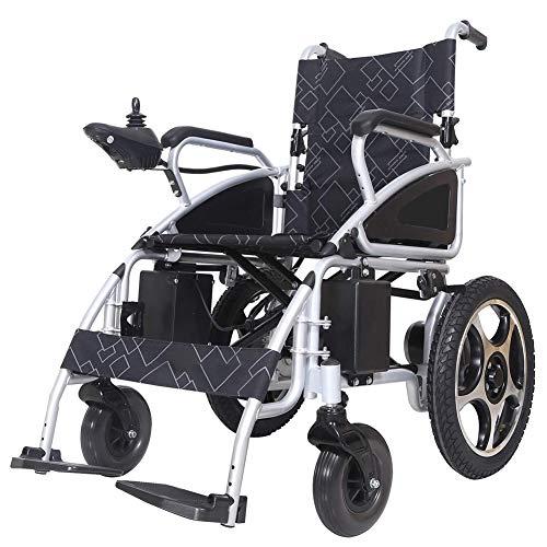 Zusammenklappbarer Elektrorollstuhl, Transitrollstuhl leicht, 360 ° Joystick, Sitzbreite 54 cm, selbstfahrende Rollstühle Gewicht Kapazität 100 kg