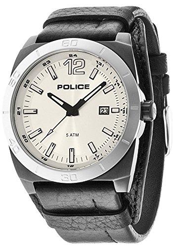 INTELIHANCE. 14107JSBS/04 - Reloj de Cuarzo para Hombre, con Correa de Cuero, Color Negro