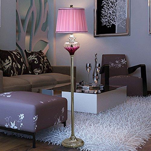 LJ Éclairage d'intérieur 1.59m moderne minimaliste violet Lampadaire pour chambre à coucher et salon (sans ampoule)