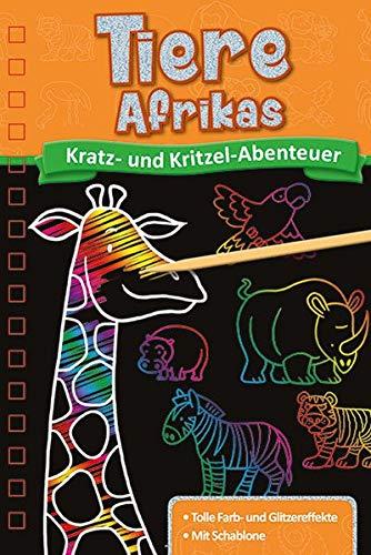 Kratzbuch: Tiere Afrikas: Kratz- und Kritzel- Abenteuer