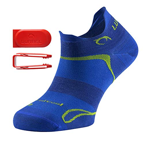 Lurbel Tiny Kurze Laufsocken, Sportsocken, Fitnesssocken, Damen/Herren, antibakteriell, atmungsaktiv, mit Blasenschutz (blau/Pistachio, 39-42)