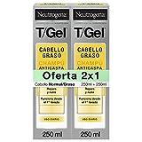 Neutrogena Champú T/Gel Cuidado del Cabello Normal Graso, 2 x 250 ml