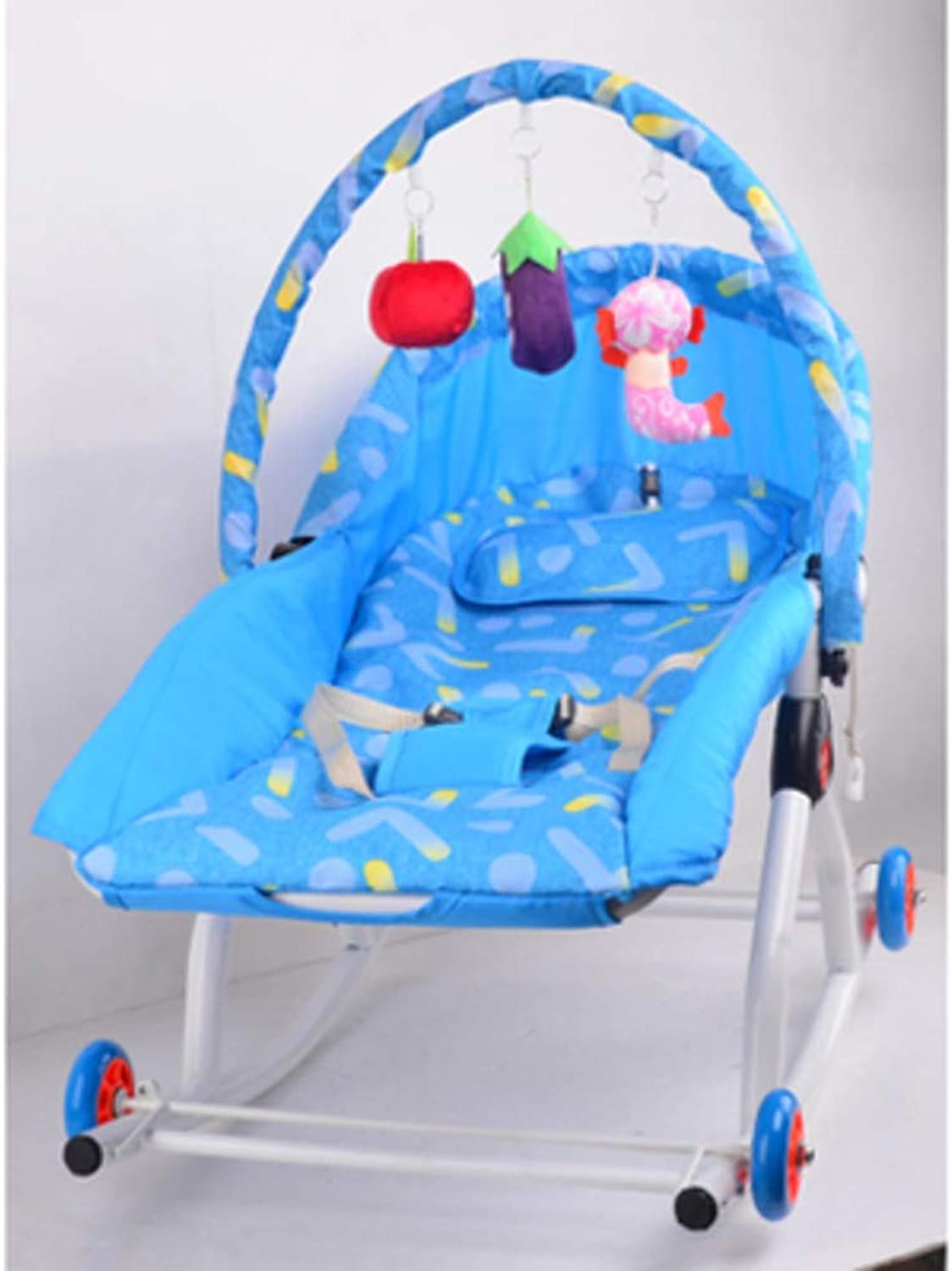 Baby Rocking Chair with Wheel,Comfort Chair for Baby Cradle Recliner Multi-Functional Baby Chair Toddler Rocker-E