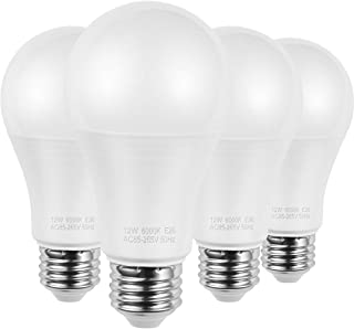 AMAZING POWER A19 E26 LED Bulbs, 100W Equivalent Frosted Medium Screw Base Bulbs, Daylight White 6000K, 4-Pack