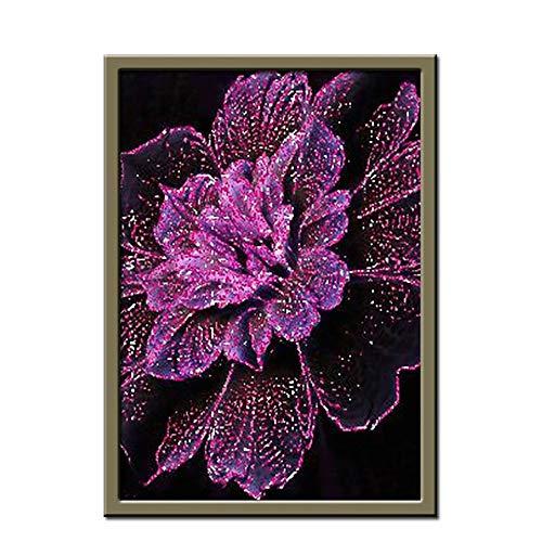 Aaubsk DIY Pintar por números Arte Hecho a Mano Mariposa Pintura Flor Color de Rosa Pintar por numeros Gato con Pincel y Pintura acrílica Pintura para Adultos por números40x60cm(Sin Marco)