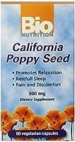 海外直送品California Poppy Seed, 60 VEG CAPS by Bio Nutrition Inc