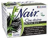 Nair - Cire Divine Detox 2 en 1 - Epilation & Exfoliation - Efficacité poils courts - Tous types de peaux - 380g