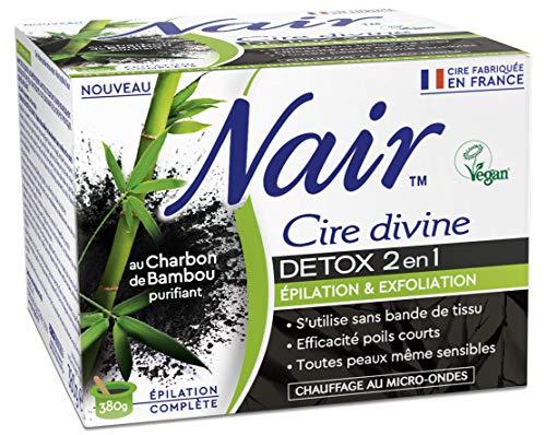Nair Cire dépilatoire detox 2 en 1 au charbon - Le pot de 380 g