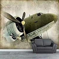 mzznz 3D壁紙新しい衝撃的な高-古代の航空機コンチネンタルの背景の壁を描いた