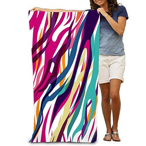 1 toallitas absorbentes de Terciopelo de poliéster 31 X 51 Pulgadas Cebra sin Costuras Gorgeous Fun Colorful Printe