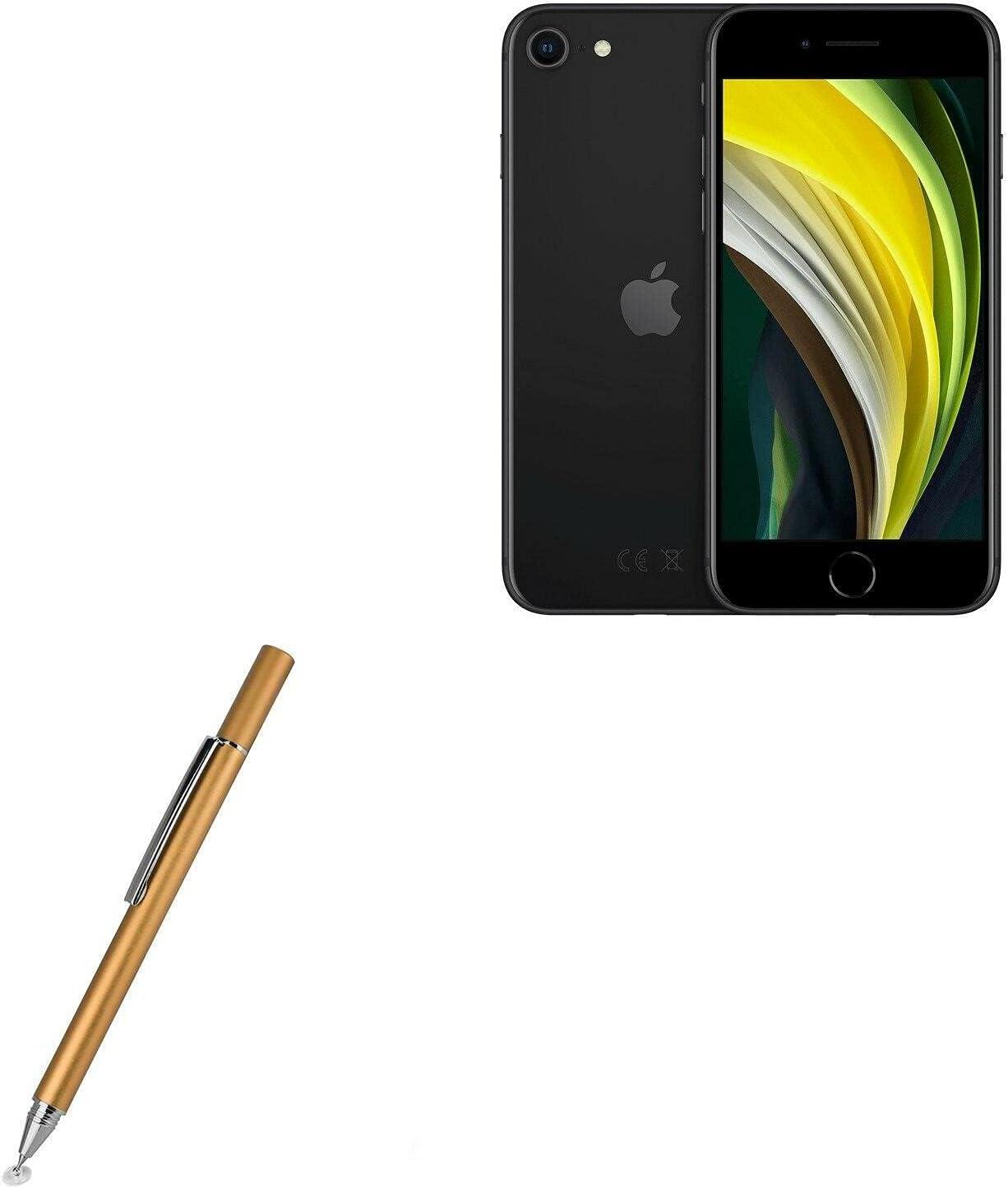 Stylus Pen for Apple iPhone SE (2020) (Stylus Pen by BoxWave) - FineTouch Capacitive Stylus, Super Precise Stylus Pen for Apple iPhone SE (2020) - Champagne Gold