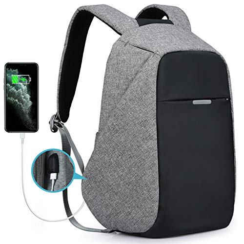 Oscaurt Laptop Travel backpack, Business College School Bookbag with USB Charging Port for Men Women Anti-theft  Daypack for 15.6 Inch Laptop