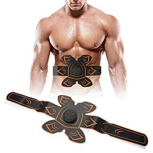 Entrenador de cintura para hombre, Entrenador de cintura para el sudor para mujeres, Cinturón de fitness Ems recargable Estimulador de músculos abdominales domésticos Máquina de tonificación