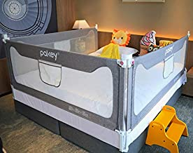 Goldenvalueable Bed Rail Guard 3 Set Vertical Collapsible for Baby Toddlers and Kids (Grey, Queen)