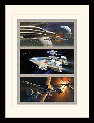 Star Wars 30 x 40 cm Ataque Rebelde montado y impresión enmarcada
